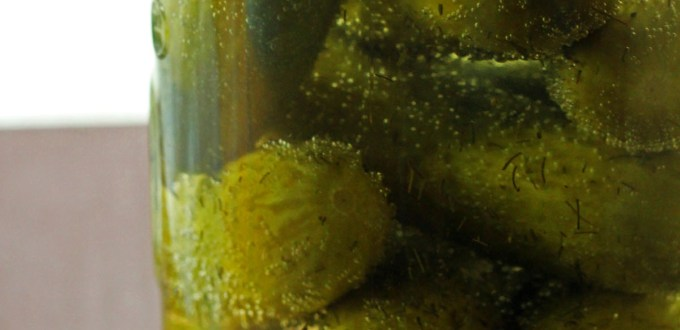 Dill Pickles a store cupboard staple from Supper in the Suburbs