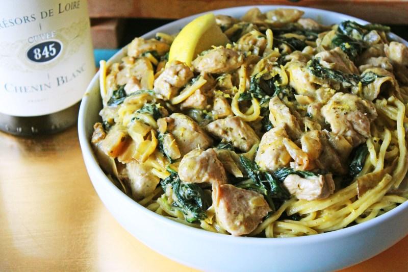 Artichoke and Pesto Sauce with Chicken