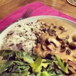 Slow Cooker Mushroom Stroganoff