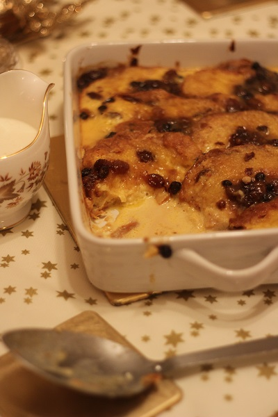Mincemeat Bread an Butter Pudding
