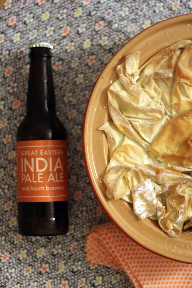 Samosa Pie with Indian Pale Ale