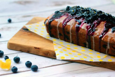 Zesty Lemon and Blueberry Madeira Cake