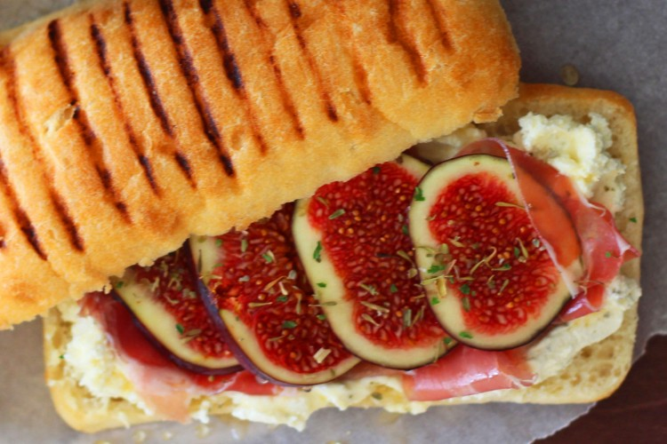Fig sandwich with Posciutto and Honey