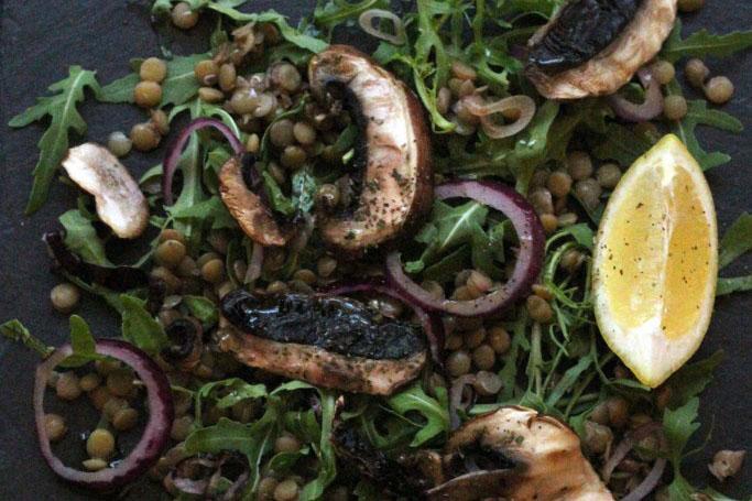 Mushroom and Lentil Salad