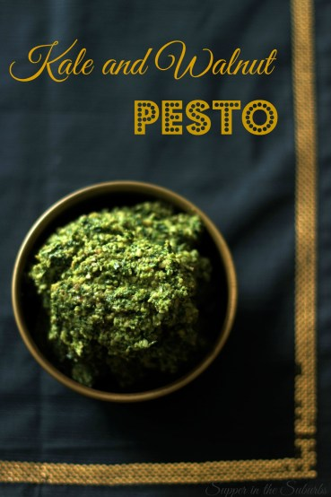 Bowl of Kale and Walnut Pesto
