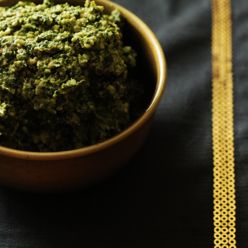 Bowl of Kale and Walnut Pesto