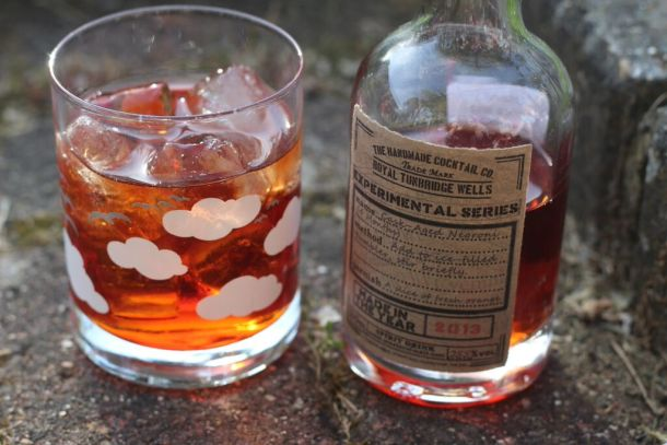 Cask Aged Negroni on ice