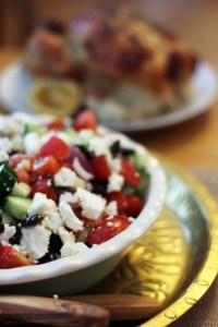 Greek Salad with Herby Chicken from Supper in the Suburbs