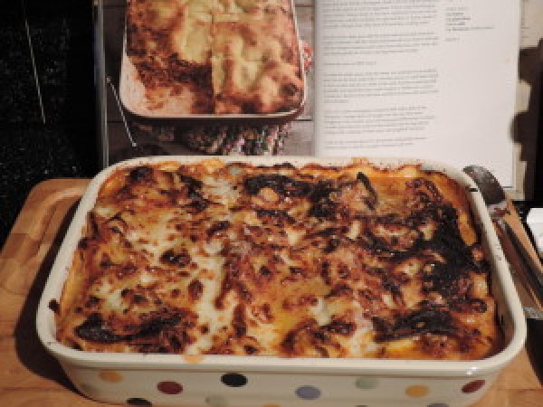 Bechamel Sauce is a key ingredient in Classic Lasagne - It's Not Easy Being Greedy