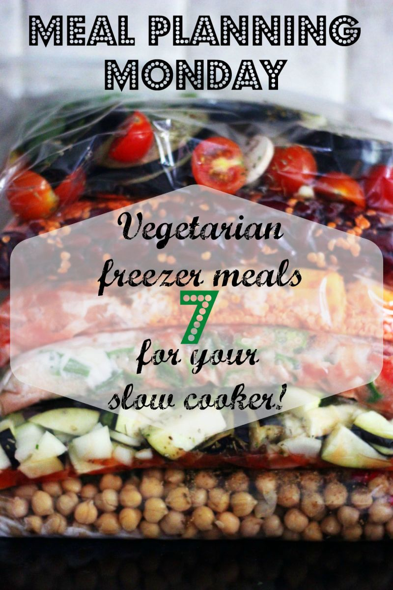 Vegetarian Freezer Meals for your Slow cooker