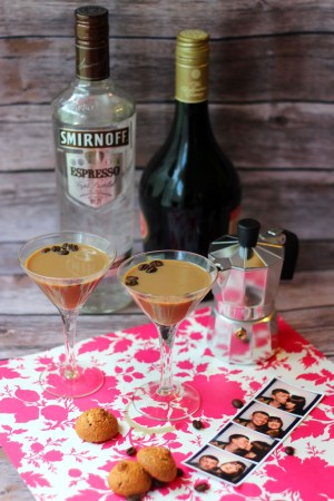Smirnoff Espresso Martinis for date night from Supper in the Suburbs and TheBar.com