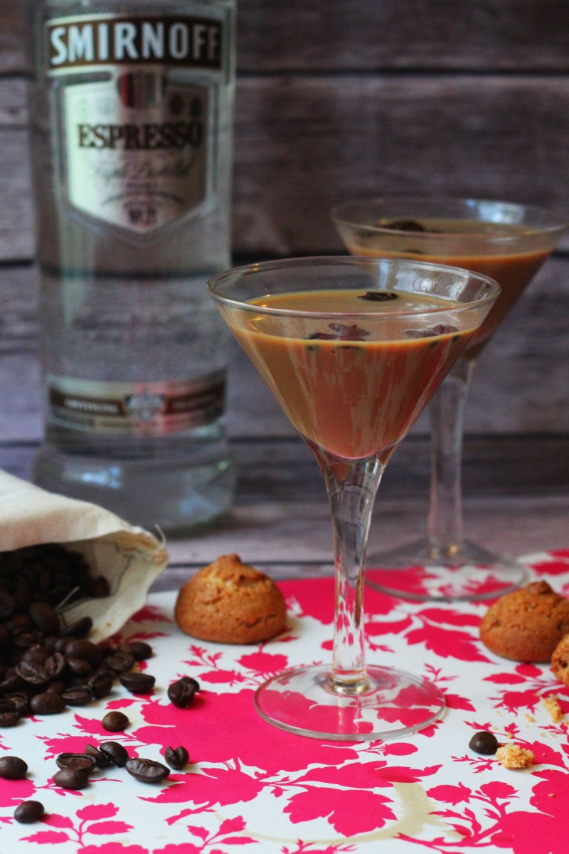 Smirnoff Espresso Martinis with Amaretto Biscuits from Supper in the Suburbs and TheBar.com