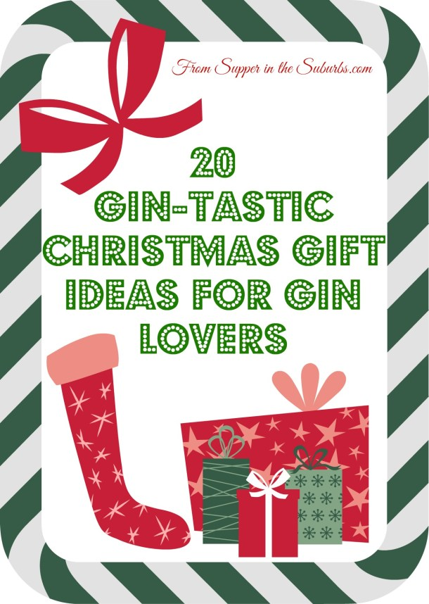 Supper in the Suburbs has put together a list of 20 Christmas gift ideas for gin lovers with stocking fillers as cheap as £4.00 and main presents up to £110.00! There's bound to be something for everyone in this Christmas list.