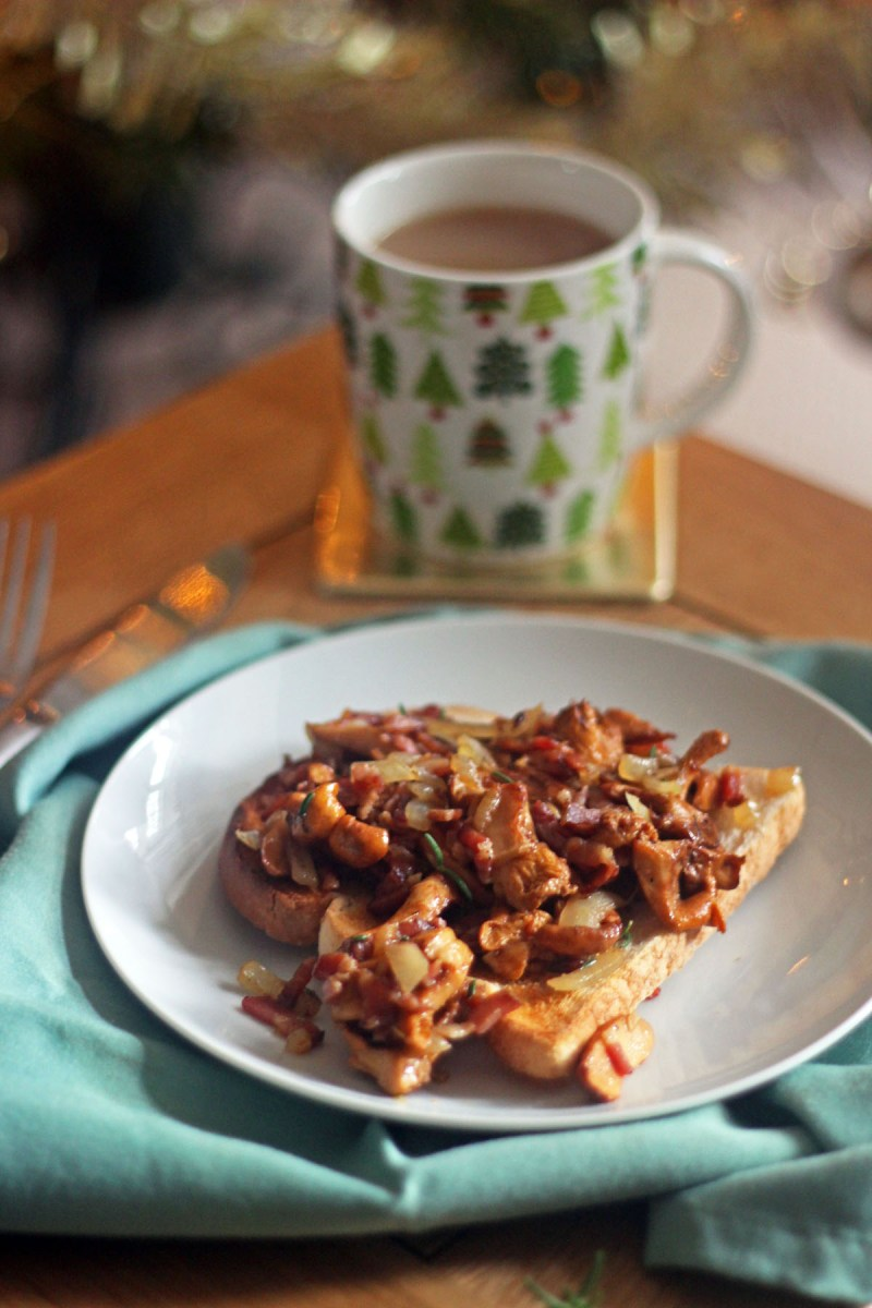 Girolles on Toast with Streaky Bacon is a delicious breakfast recipe that will help you start the day the right way
