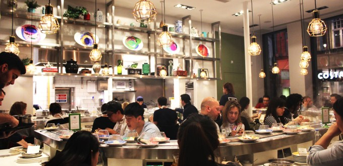 Downstairs at Shuang Shuang great for two people just staying for a light bite