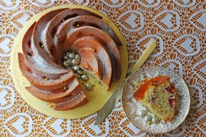 Grab the recipe for this Champagne and Raspberry Bundt Cake for your next celebration