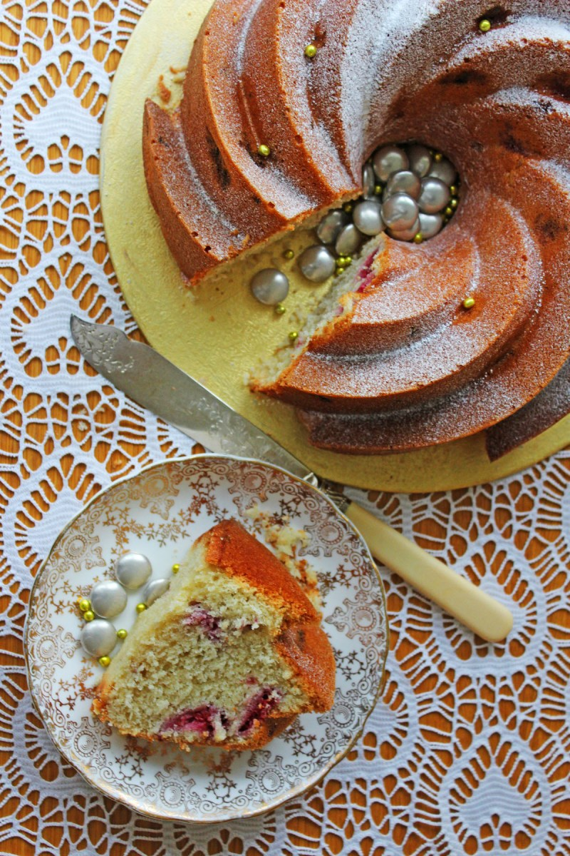 This Celebratory Champagne and Raspberry Bundt is the perfect recipe for your next celebration