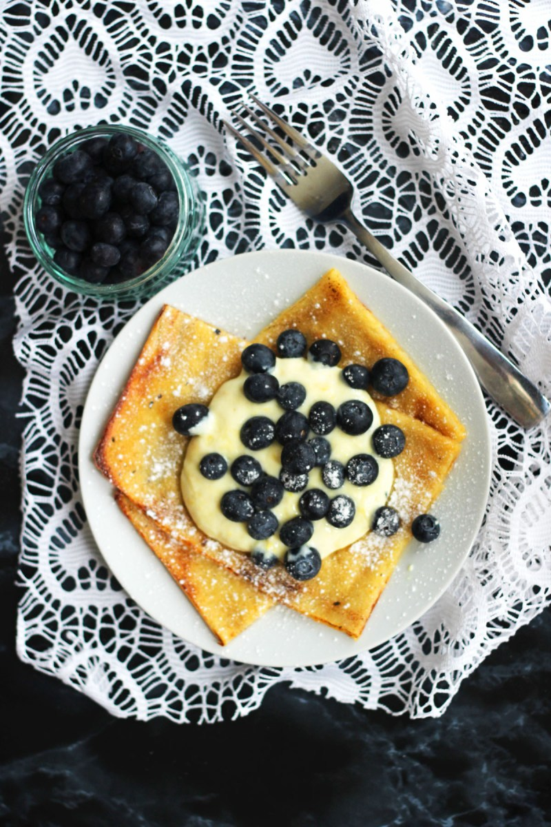 Oven Baked Pancakes are a delicious alternative to crepes and American style pancakes this Shrove Tuesday find the recipe at Supper in the Suburbs