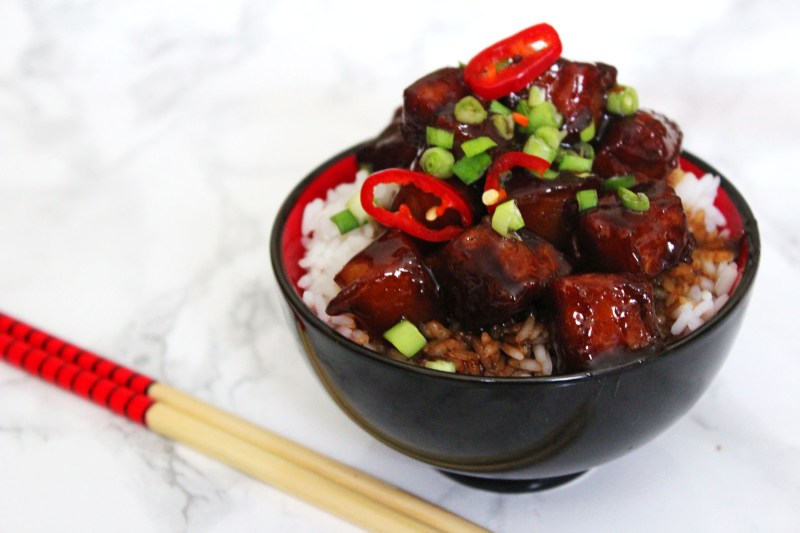 Sweet and Spicy Pork Belly or