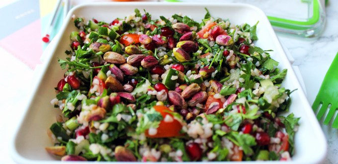 Pistachios and pomegranate make a tasty addition to a classic recipe find it at Supper in the Suburbs