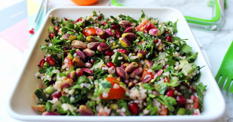 Pomegranate and Pistachio Tabbouleh