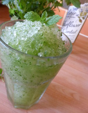 Mint and Elderflower Slushie from Coriander Queen