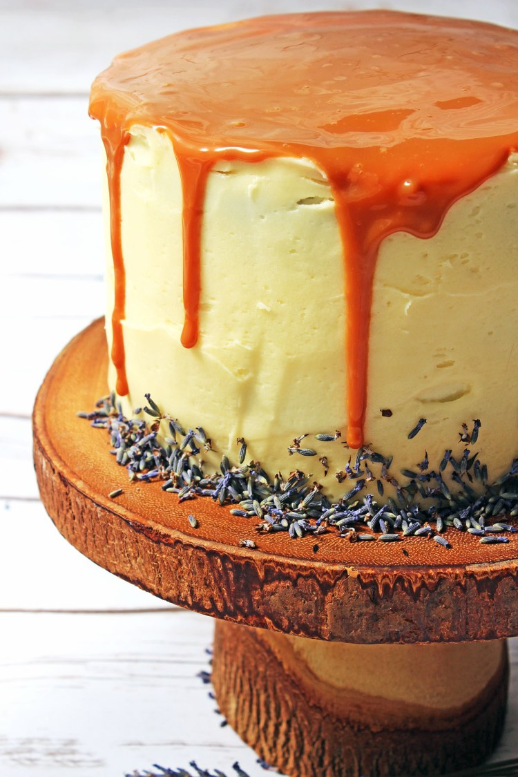 Lavender and Honey Layer Cake is a stunning cake perfect for any summer celebration! Bake it for your next garden party this summer holidays. Get the recipe at Supper in the Suburbs