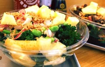 Hawaiian salads from Ahi Poke, London