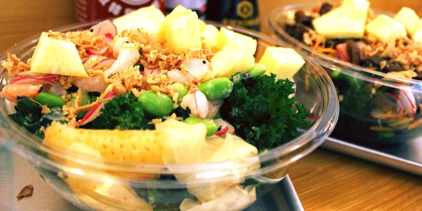 Hawaiian salads from Ahi Poke, London