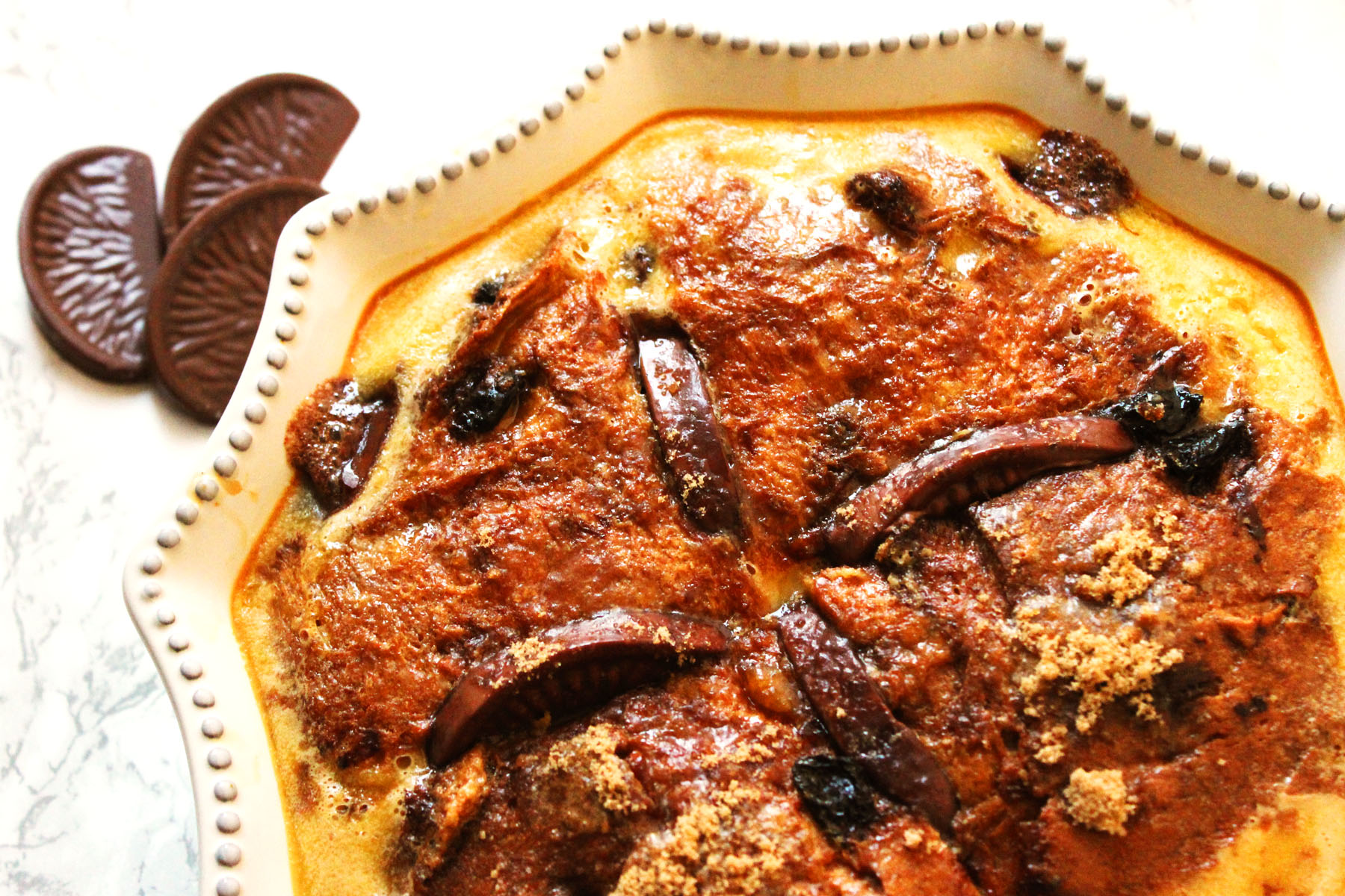 Terry's Chocolate Orange Bread and Butter Pudding