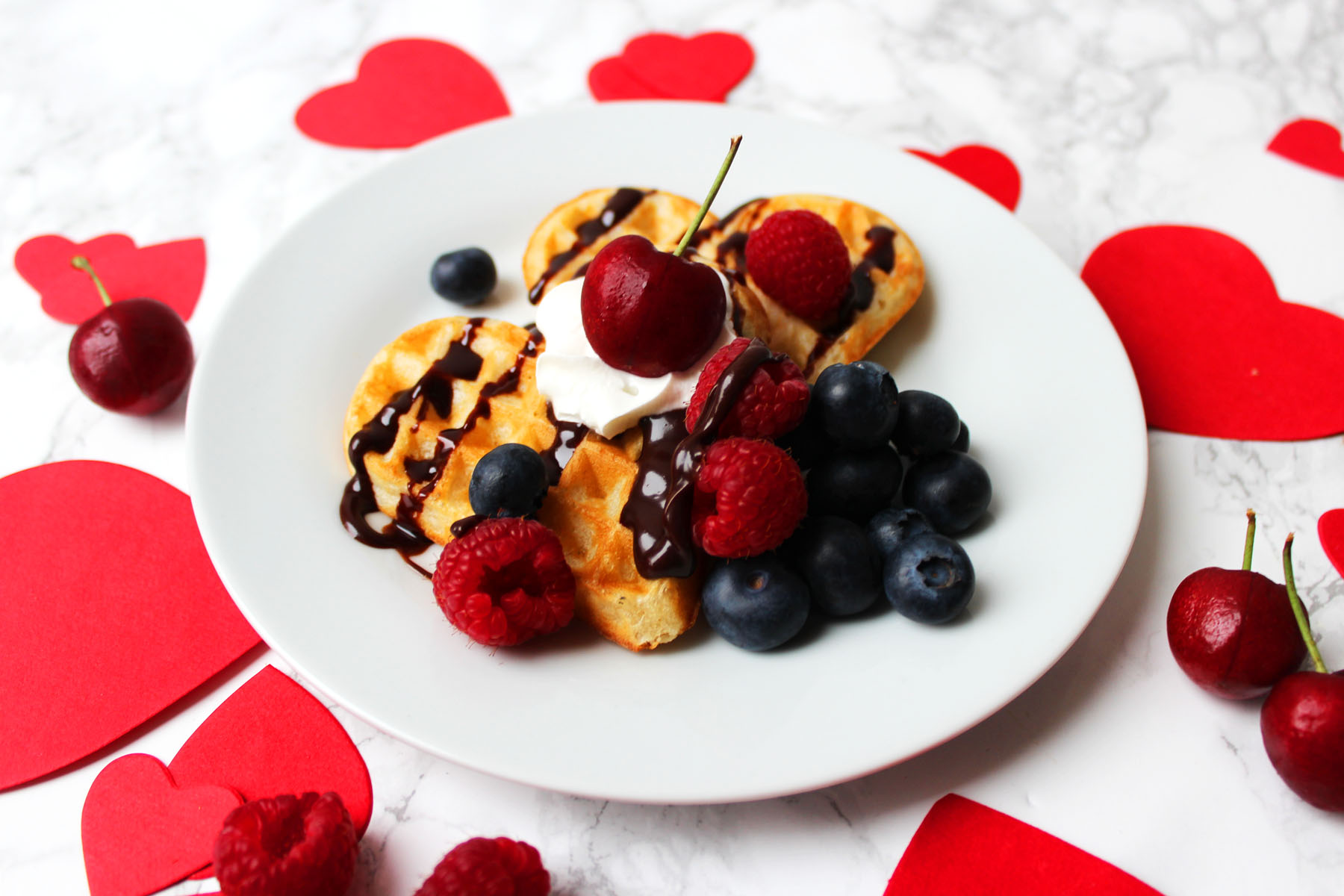 Vanilla Bean Waffles for Valentines Day