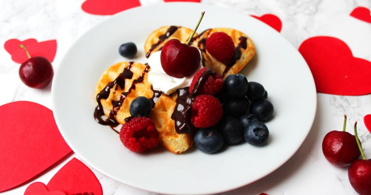 Vanilla Bean Waffles for Valentines Day