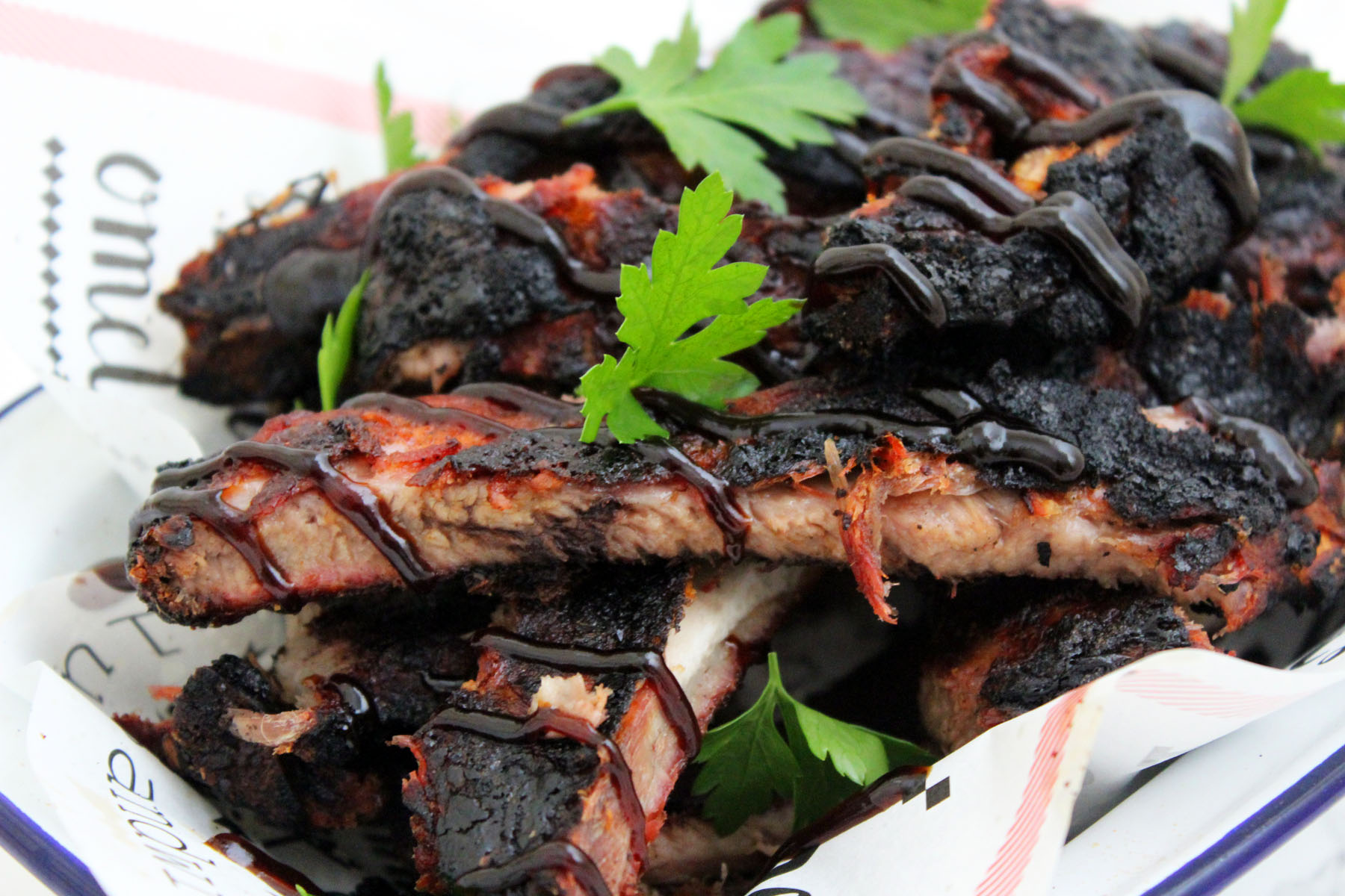 Smoked Barbecue Ribs, Memphis Style