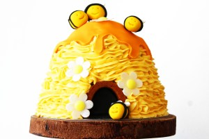 This playful children's bee hive celebration cake is perfect for birthdays and christenings. Get the recipe at Supper in the Suburbs!