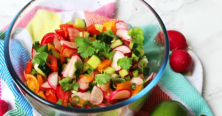 Radish and Lime Salsa