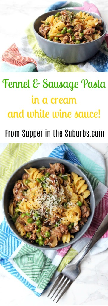 Fennel and Sausage Pasta is a quick and easy recipe perfect for midweek meals. Get the recipe from Supper in the Suburbs and cook it for dinner tonight!
