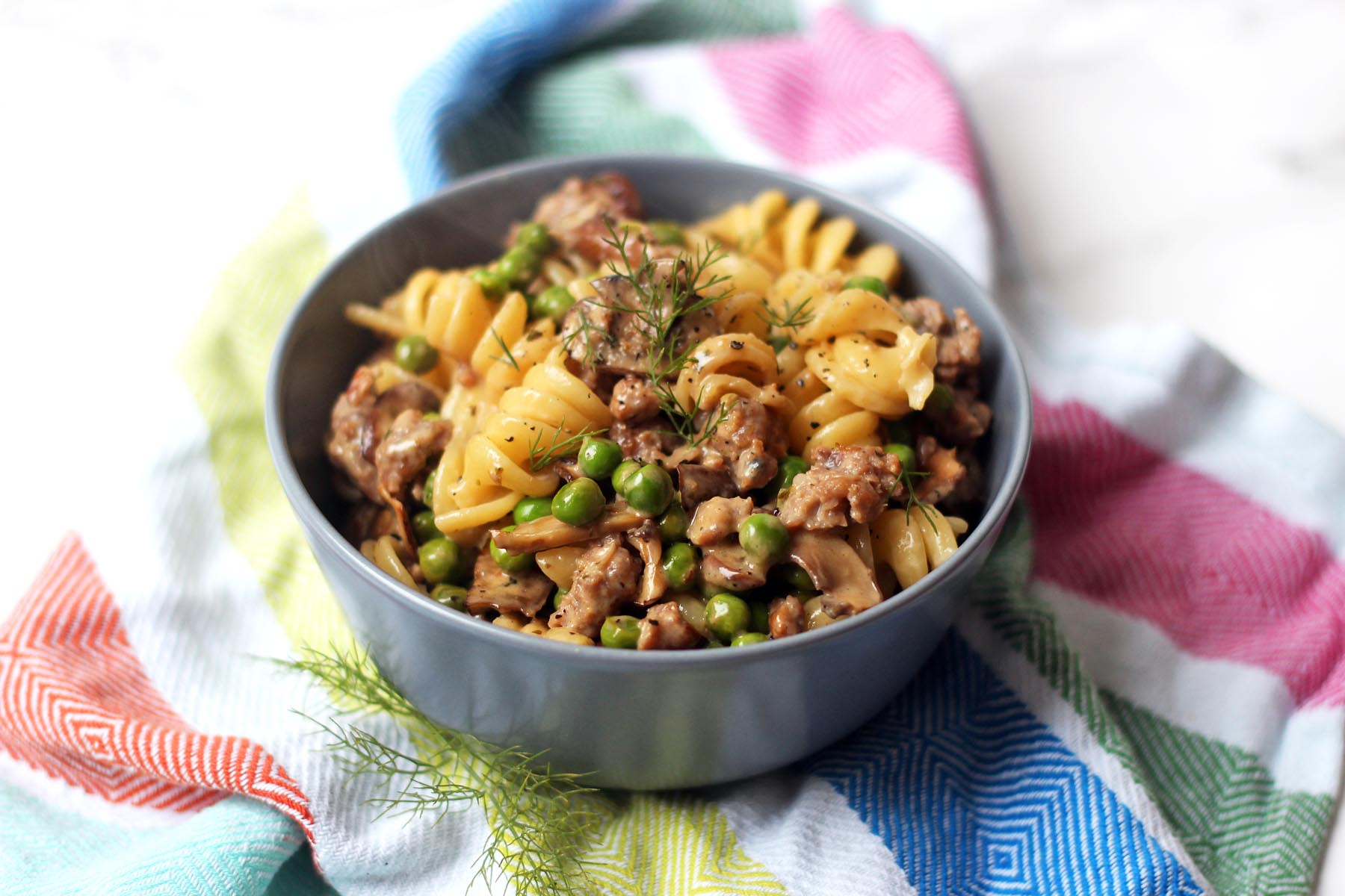 Fennel and Sausage Pasta in a cream and white wine sauce