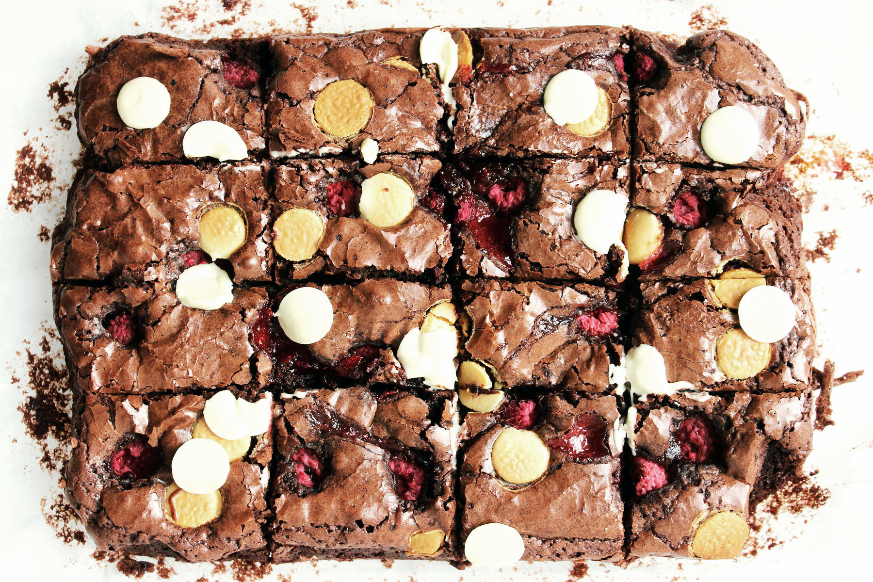 Raspberry and White Chocolate Brownies