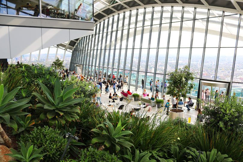 How to beat the queues at the Sky Garden in the Walkie Talkie in London.