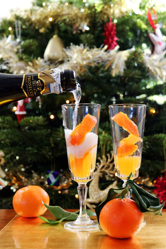 Celebrate the New Year with this delicious Clementine Mimosa, made with fresh clementine juice and prosecco. Get this festive brunch cocktail recipe at Supper in the Suburbs!