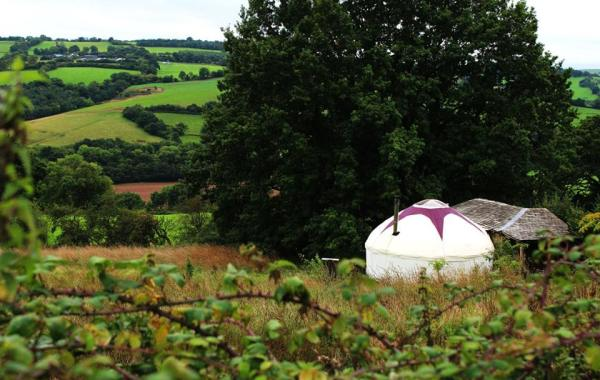 Glamping off-grid in a yurt