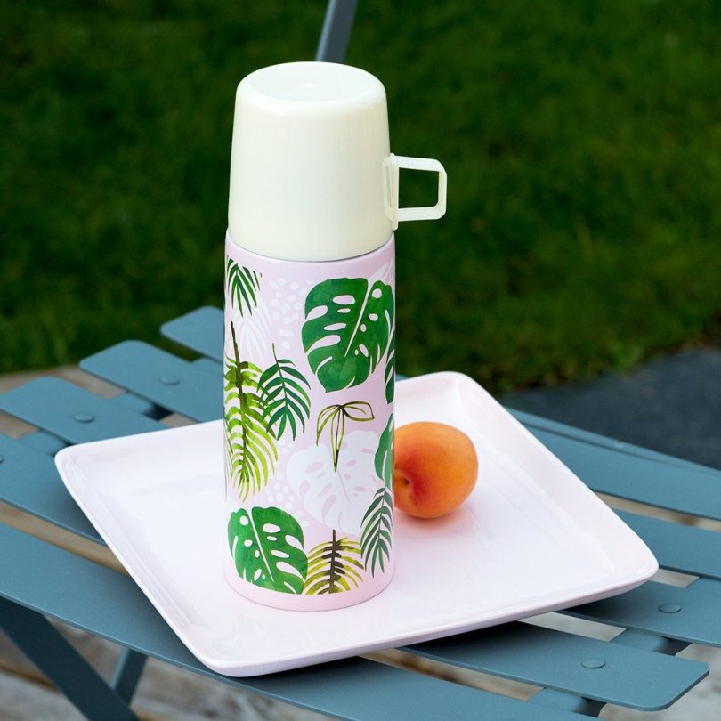 Tropical Palm Flask and Cup from Rex London (previously Dotcomgiftshop)