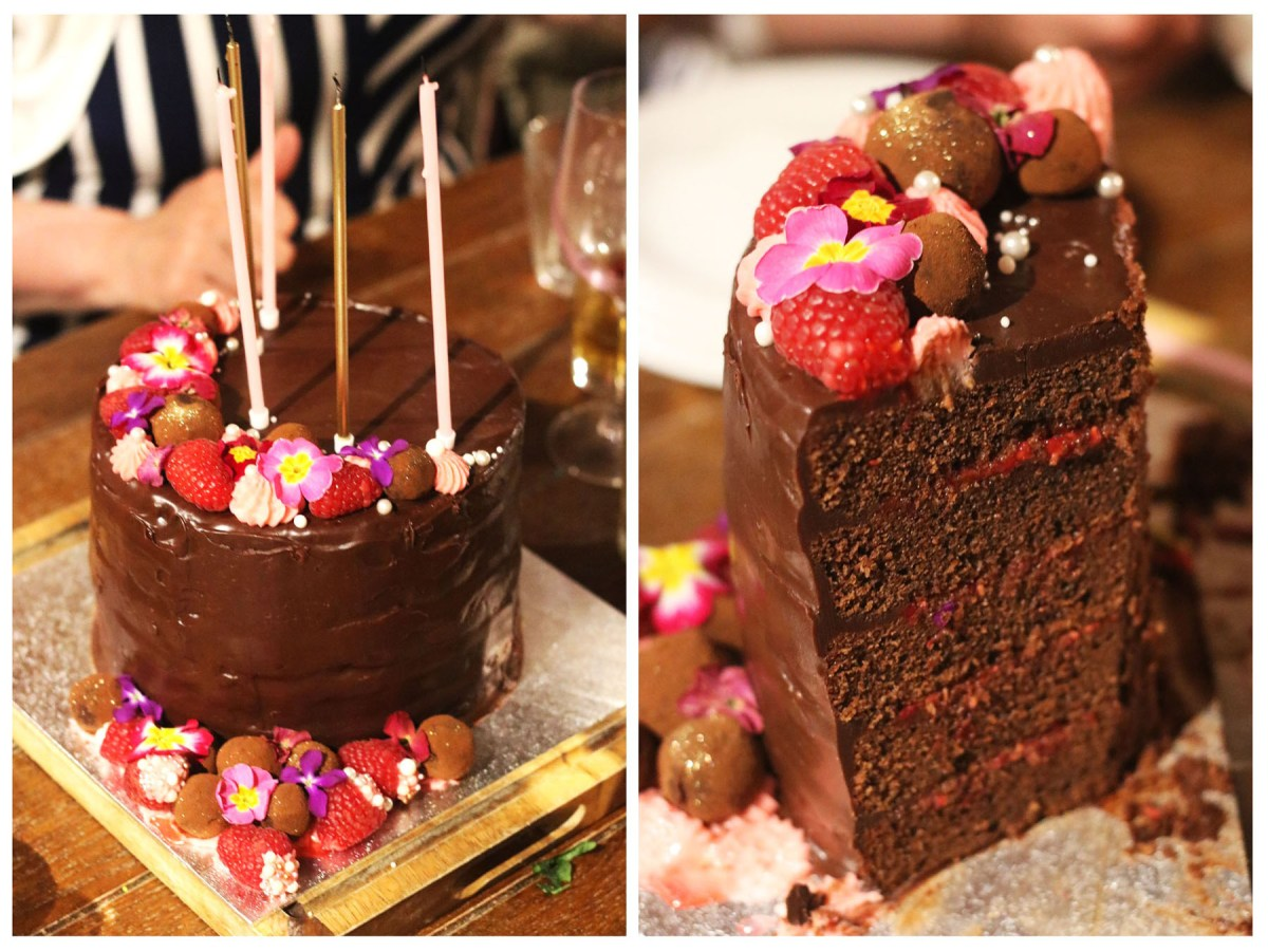 Chocolate Raspberry Celebration Cake
