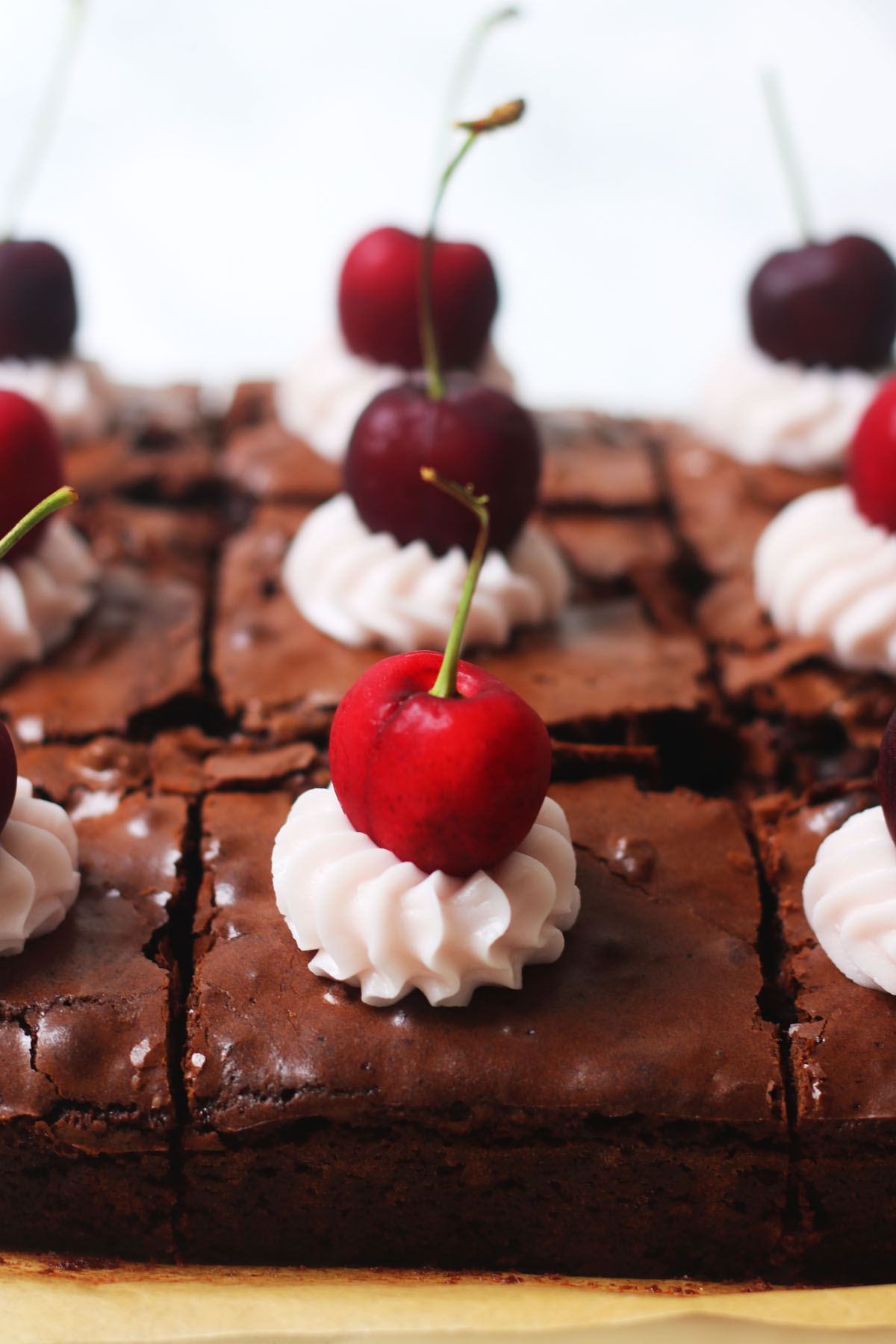 A Cherry and Pecan Brownie