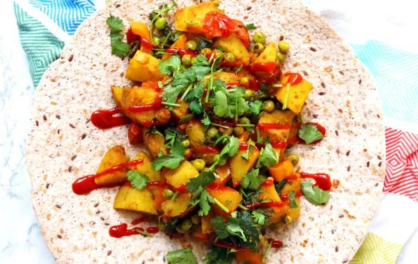Bombay potato wrap