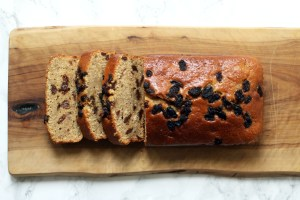 Slices of Cinnamon Raisin Banana Bread