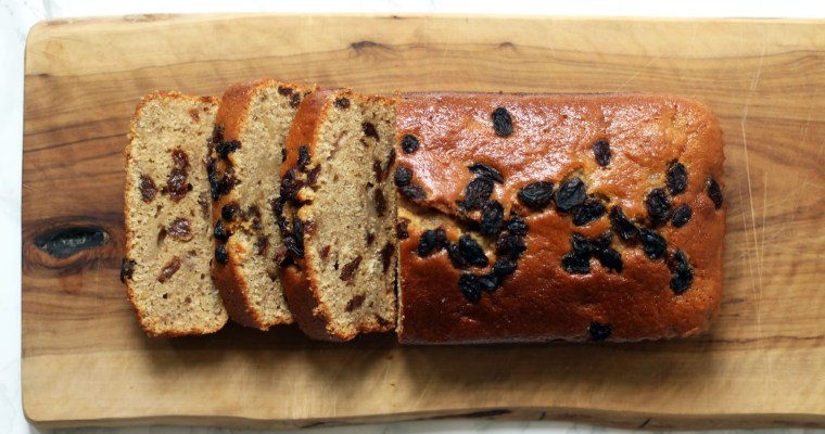 Cinnamon, Raisin Banana Bread