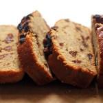Slices of Cinnamon Raisin Banana Bread