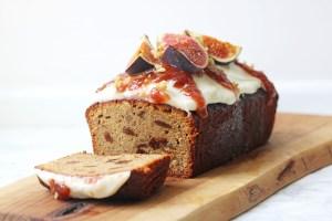 Spiced Fig and Walnut Cake sliced