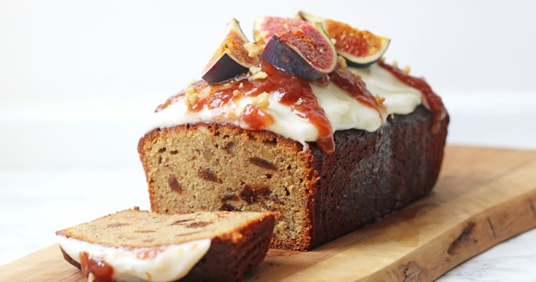 Spiced Fig and Walnut Loaf Cake